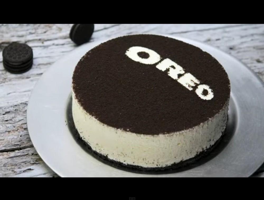 Cheesecake de Oreo sin hornear